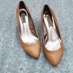 Steve Madden P-Sadee Brown Leather Pumps 9